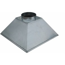 ЗВОК 500х 800х400 h купольный зонт вытяжной из оцинкованной стали на шинорейке